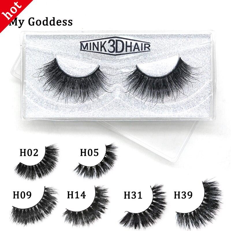 3D Mink Eyelashes 10mm-18mm Long 100% Handmade Mink Lashes Natural&wispy&cilios Eye Lashes Makeup Beauty Extension MyGoddess H