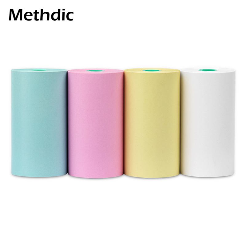 Methdic 4 Rolls Colorful Thermal Paper Used In Supermarket Cash Registers Portable Printer Bluetooth Printer Printing Paper