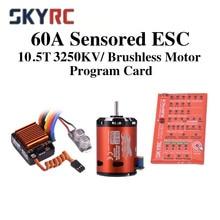 SkyRC Cheetah 1/10 60A Sensored ESC Cheetah 10,5 T 3250KV Bürstenlosen Motor Programm Karte Combo Power 1/10 1/12 RC Auto SK-300058-02