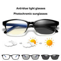 Blue Filter Computer Glasses Photochromic Sunglasses Women Men Automatically Switches Color Changing Eyeglasses Anti blue Ray UV