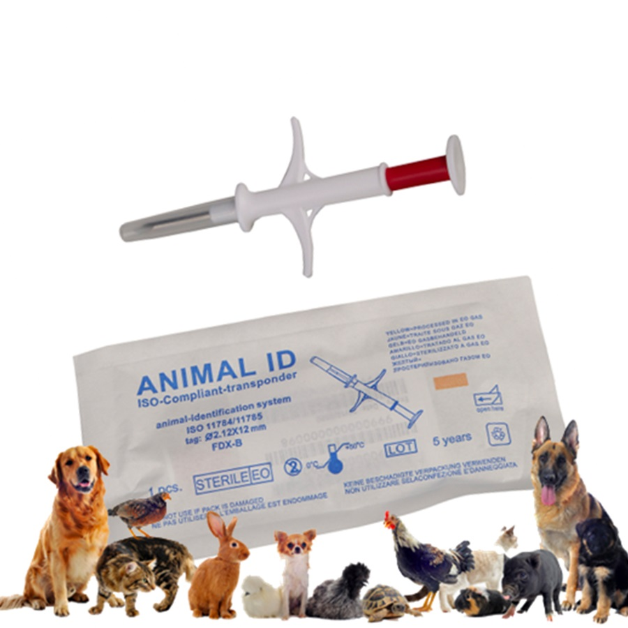 (1pcs/Lot) 1.4x8mm134.2KHz RFID Glass Tag For Pet Identification,Tag For Animal Tracking/identification Pet Syringe Chip