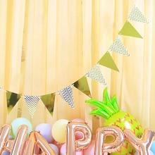 Paper Wavy Stripe Pennant Banner DIY Birthday Party Decoration Kids Baby Shower Girl Boy Wedding Par