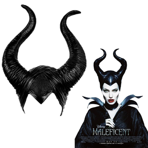 Image 1 - Maléfique masque la maîtresse du mal, accessoires de Cosplay, couvre chef unisexe, Halloween Angelina Jolie reine noire, couvre chef chapeaux