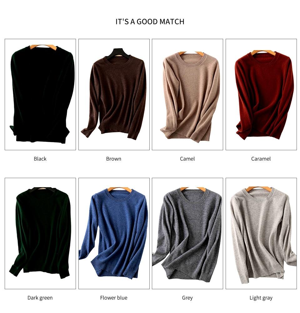 Merino Wool Cashmere Sweaters
