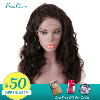 Ali FumiQueen 13x6 Human Hair Wigs Brazilian Loose Wave With Pre-Plucked Hairline Remy Hair Lace Front Wigs With Baby Hair