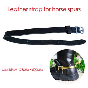 Darmowa wysyłka skórzany pasek do konia spurs 15MM szerokości 3MM grubości (AC7110) tanie i dobre opinie ekay Jazda ostrogi Leather leather strap Fujian China (Mainland)