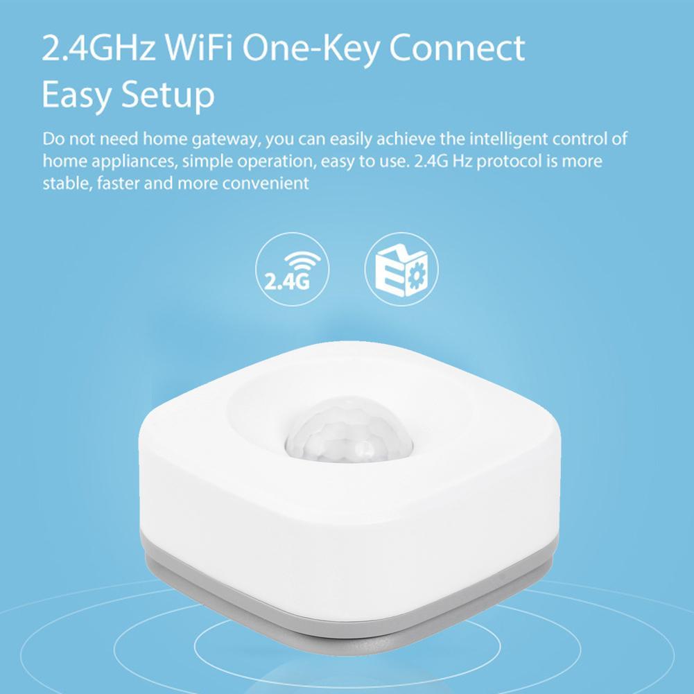 Беспроводной смарт-датчик движения, Wi-Fi Инфракрасный датчик движения, домашняя сигнализация для Tuya IFTTT, умное эффективное расстояние до 45 м, ...