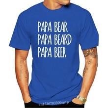 Été drôle imprimé Couleur Sombre T-Shirt Papa Ours Papa Barbe Papa Bière T-Shirt hommes haut pour femme T-Shirt 100% t-shirts en coton