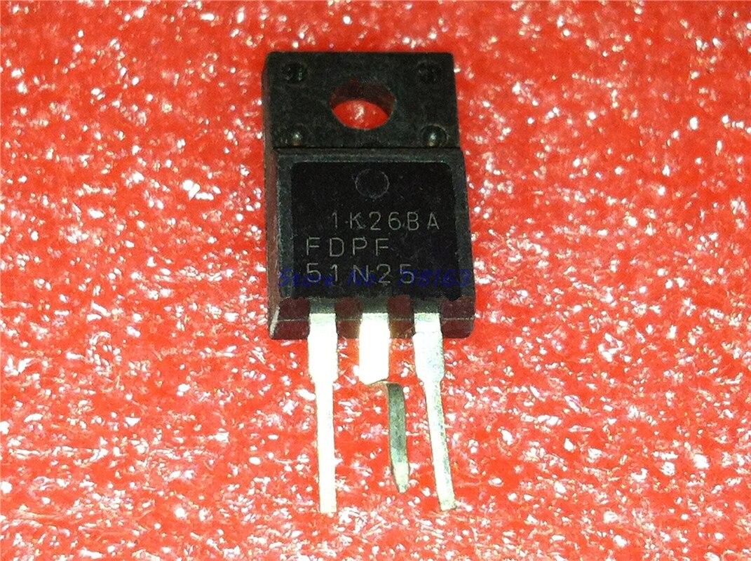 4pcs/lot FDPF51N25 51N25 51A 250V TO-220F In Stock