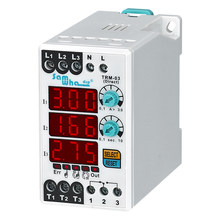 Un:150-260VAC Digital (Manual / Semi-Automatic / Automatic Reset) Electronic Overload Asymmetry Relay Thermal Relay TRM