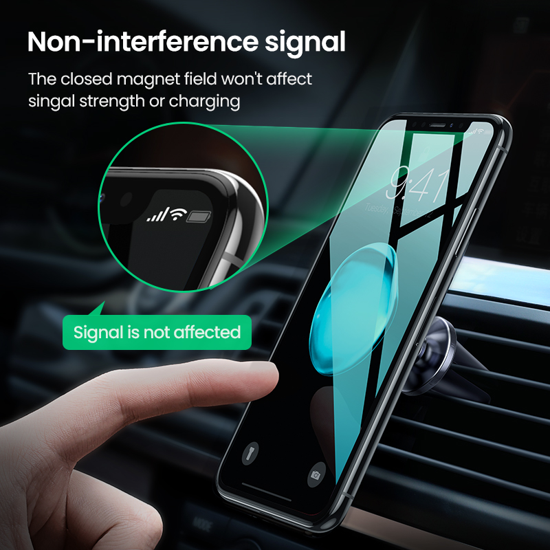 Image 3 - Ugreen Car Magnetic Phone Holder Cell Phone Mount Holder Stand In Car Smartphone Support Magnet for iPhone X Mobile Stand Holder-in Phone Holders & Stands from Cellphones & Telecommunications