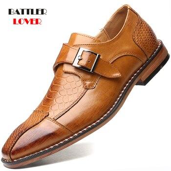 Zapatos De Vestir De cuero Oxford para Hombre, calzado Formal, De negocios