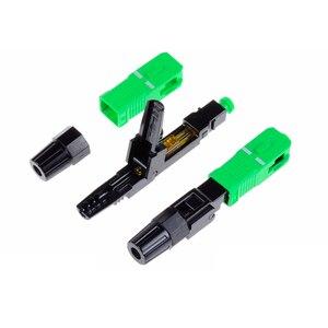 Image 4 - 100 pces sc apc conector rápido incorporado conector de fibra óptica ftth ferramenta frio fibra sc apc conector óptico