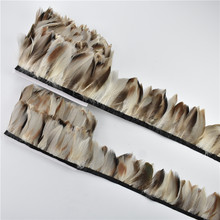 1Meter Pheasant Feathers Trims for Crafts Natural Plumes Fringes for Clothes Accessories Needlework Handicrafts DIY Decoration