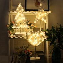 HA CONDOTTO LA Luce di Notte Di Natale Decoracion Le Luci Per La Casa Camera Da Letto Luces LED Decoracion Albero di Natale Coperto Lampade Luci Leggiadramente