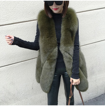 Genuo New 2019 Winter Fashion Women's Faux Fur Vest Faux Fur Coat Thicker Warm Fox Fur Vest Colete Feminino Plus size S~3XL genuo new 2019 winter fashion women s faux fur vest faux fur coat thicker warm fox fur vest colete feminino plus size s 3xl