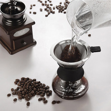 Coffee-Maker Espresso-Machine Stainless-Steel with FILTER-V60 High-Temperature-Resistant