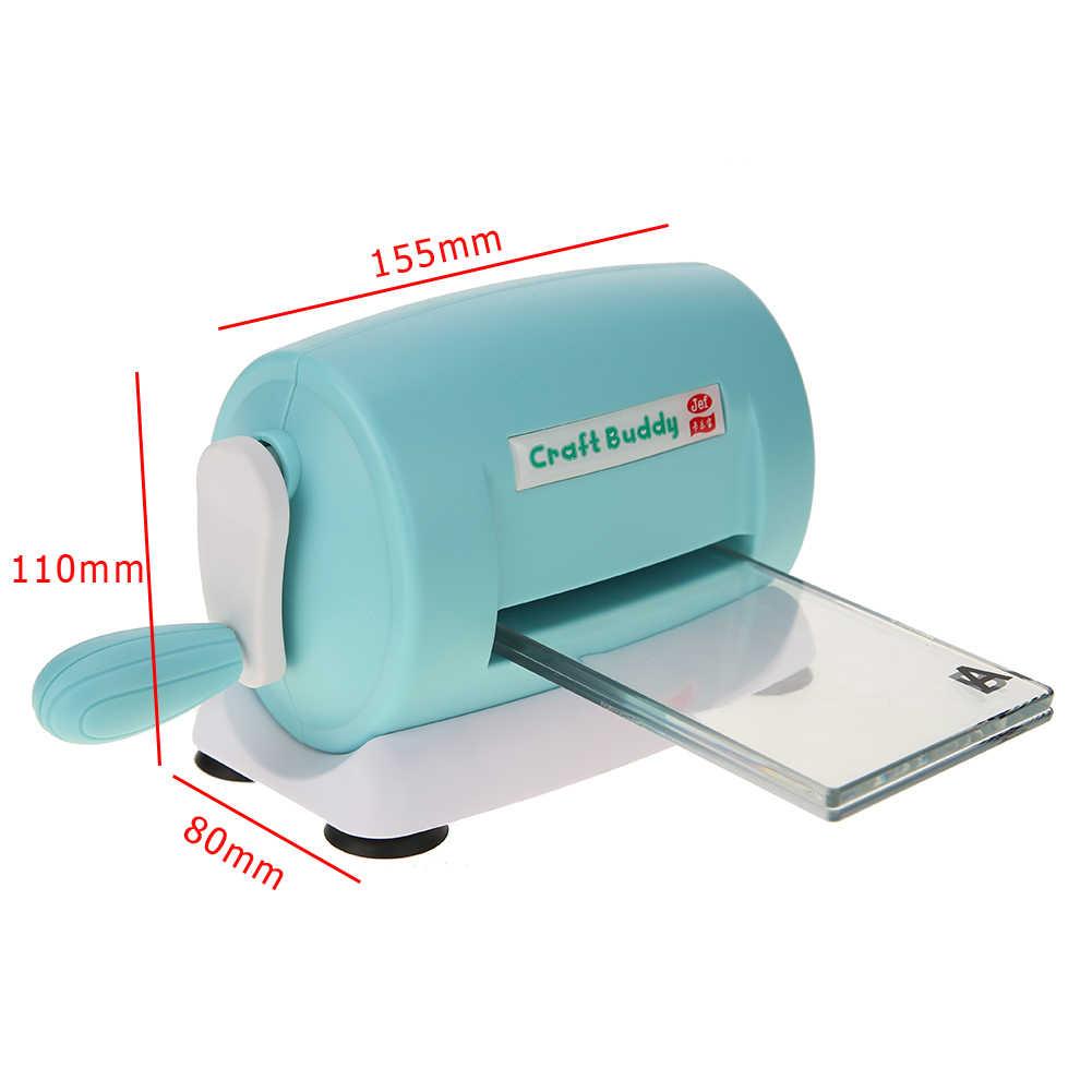 Die-Cutเครื่องตายตัดEmbossing DIY Scrapbookingเครื่องตัดกระดาษพลาสติกและโลหะแบบพกพาเครื่องมือเครื่องแม่พิมพ์