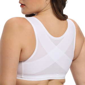 Image 3 - Front hook Closure Womens Lace Bra Sexy Bralette Bra Minimizer Large Plus Size brassiere A B C D E F Cup