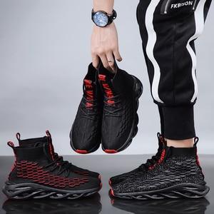 Image 4 - Męskie buty na co dzień oddychające jesień trampki mężczyźni Krasovki Tenis Masculino wysokiej góry Zapatillas lekkie sportowe buty dropshipping 2019
