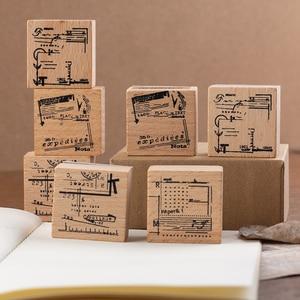JIANWU 1pc Vintage Cloth bag wood stamp DIY wooden rubber stamps for scrapbooking DIY bullet journal standard stamp planner
