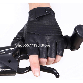 2020 Fahion 1Pair Half Finger Driving Women Fashion Gloves Pu Leather Fingerless Black Womens Hand Mittens Luvas R699