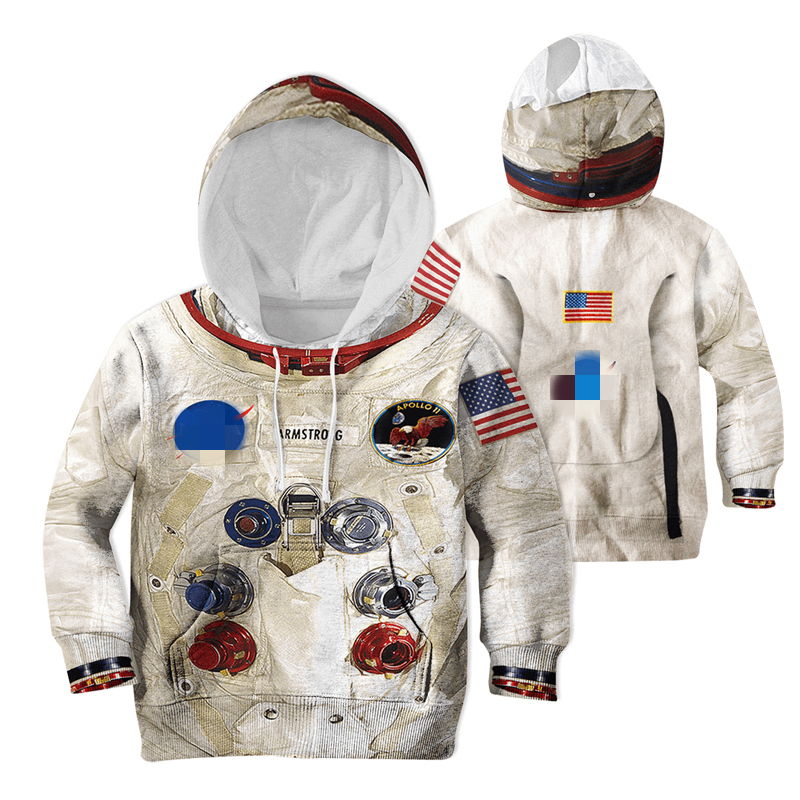 Family Matching Sweatshirt Outfits Hoodies Space-Suite Mom Astronaut Kids Casual 3D