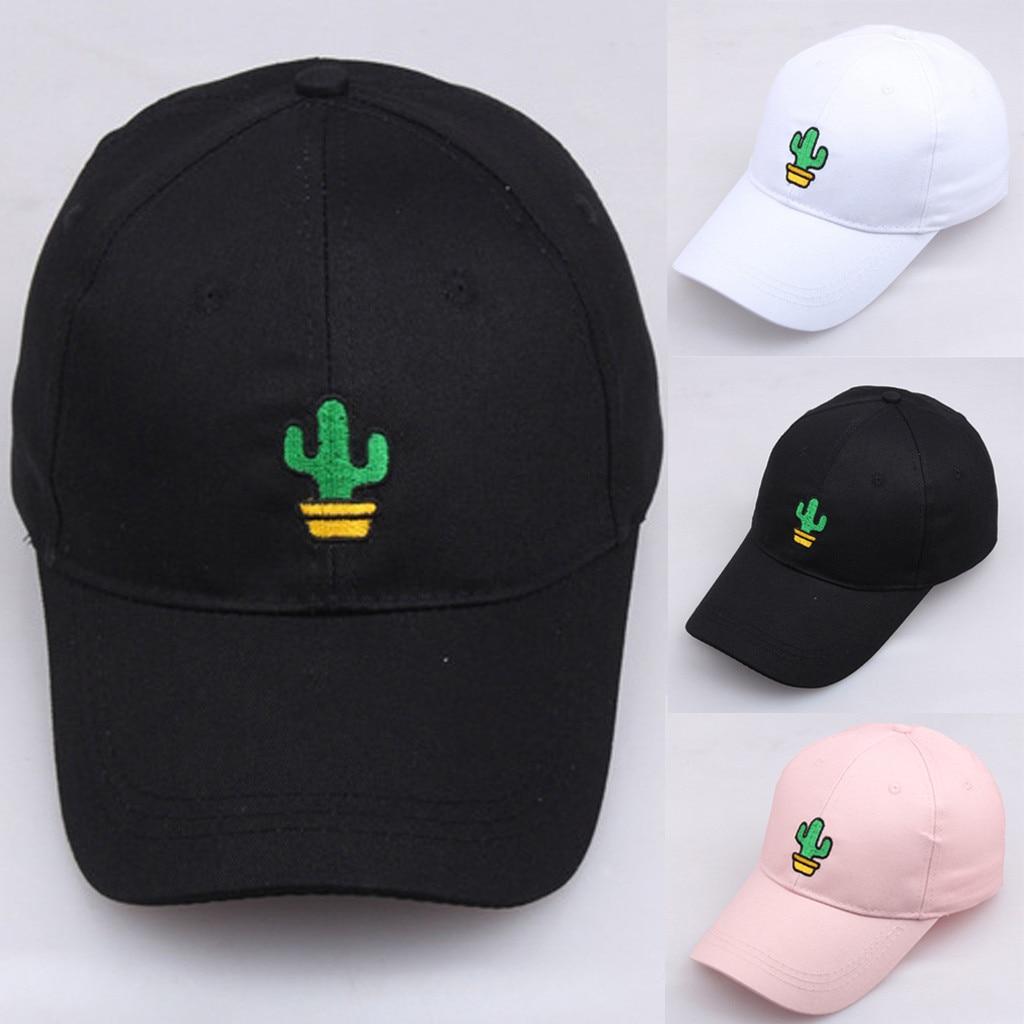 Gorra de béisbol Unisex, sombrero de Padre con Bordado de Cactus, Hip Hop, Unisex