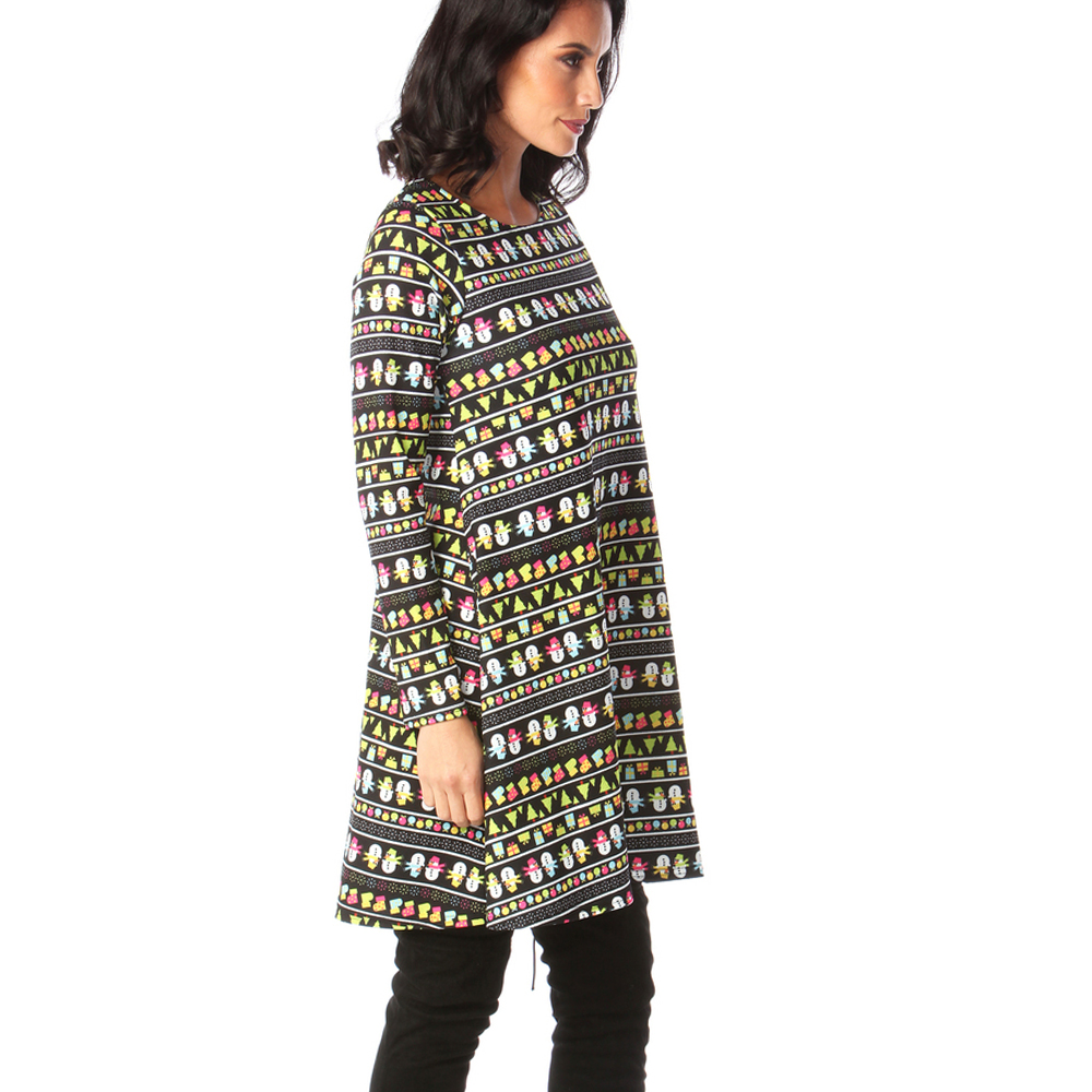 Print Long Sleeve Autumn Winter Christmas Dress Women 19 Casual Loose Short Party Dress Plus Size S-5XL Vestidos 22