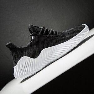 Image 3 - Offre spéciale nouvelle maille hommes chaussures respirant blanc hommes baskets Lac up léger noir marche homme Tenis chaussures Zapatillas Hombre