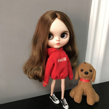 Blyth doll red clothes long-sleeve nightgown with hood for blyth, azone, pullip ob24 ob27 doll Barbie doll accessories кукла pullip little dal doll panty