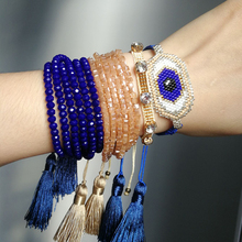 SHINUSBOHO Blue Eye Bracelets for Women MIYUKI pulseras Bracelet Men Accesorios mujer moda 2019 Friendship Bracelets shinusboho lucky eye jewelry pulseras miyuki bracelet for women fashion crystal beads with tassel bracelets bileklik