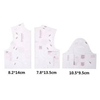3pcs/ Set  1:3 Fashion Design mini Ruler Cloth School Student Teching Apparel Drawing Templete Garment Prototype Rulers - discount item  30% OFF Drafting Supplies