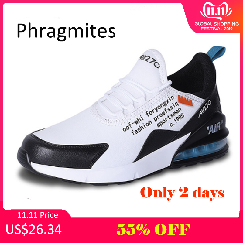 Phragmites PU Leather Breathable Casual Dad Shoes Lace Up Fashion Outdoor Men Sneakers Male Adult