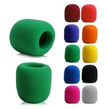 Карамельный цвет ручной сценический микрофон чехол для микрофона губка для ветрового стекла Пена студия защитный гриль щит для KTV караоке DJ