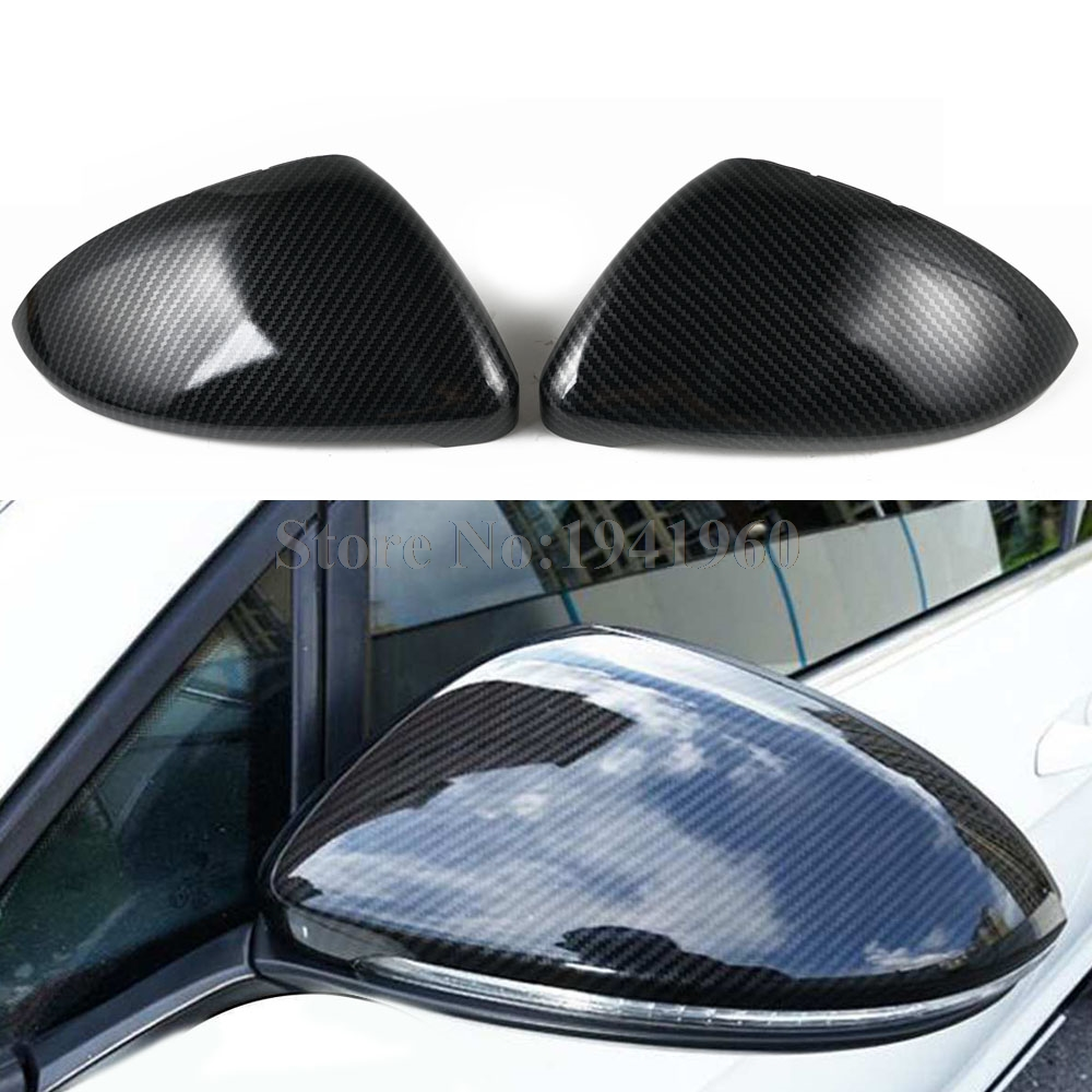 Carbon Fiber Wing Mirror Case Cover Cap For <font><b>VW</b></font> e-Golf Golf <font><b>SportWagen</b></font> R Altrack GTI 2015 2016 2017 2018 image
