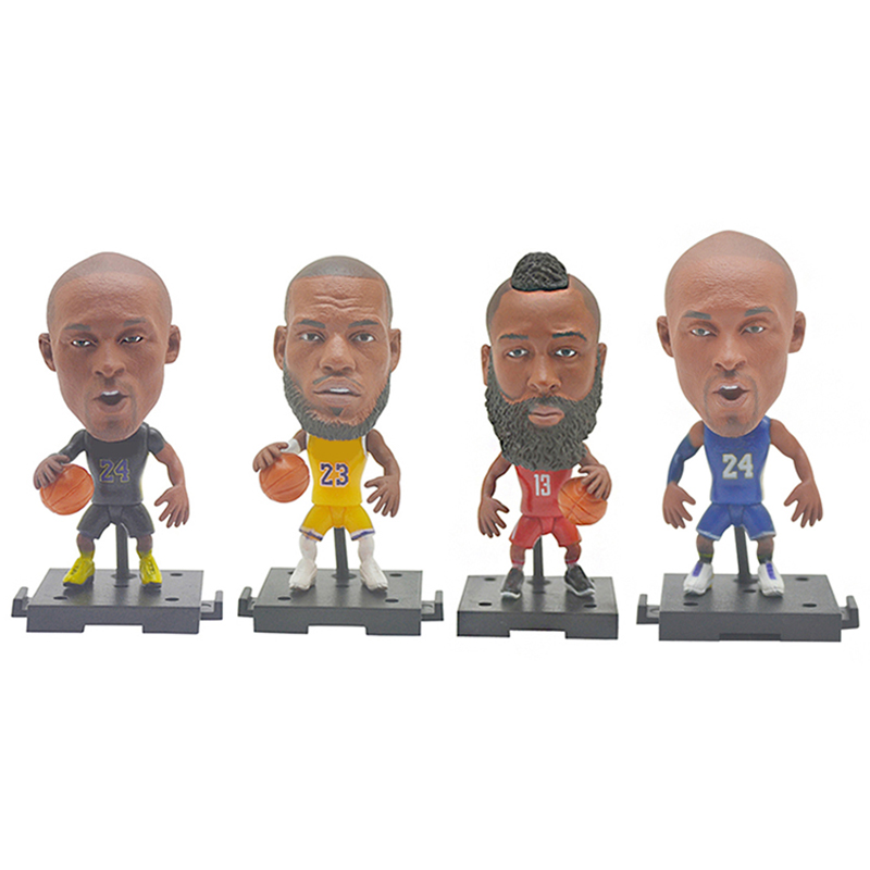 2020 Creative Basketball Star Soccerwe Toy Figures KOBE JAMES Collectible Model Small Gift Doll