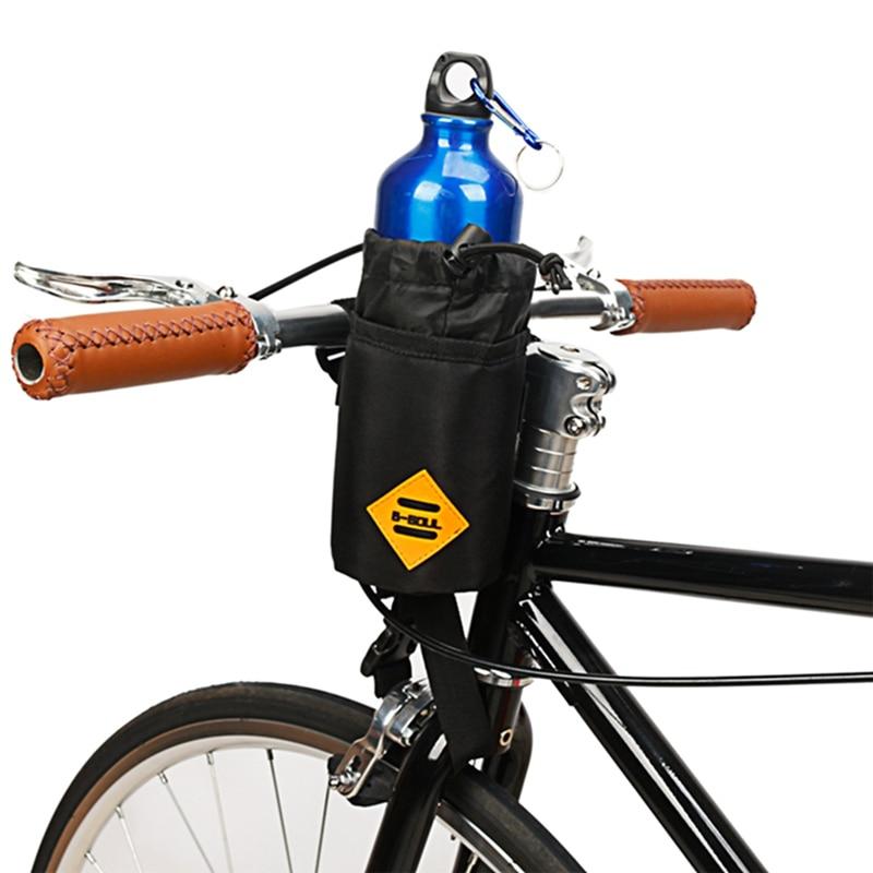 Sport Water Bottle Holder Carrier Pouch Portable Cycling Handlebar Kettle Bag Bike Handlebar Stem Bag Bicycle Accessories
