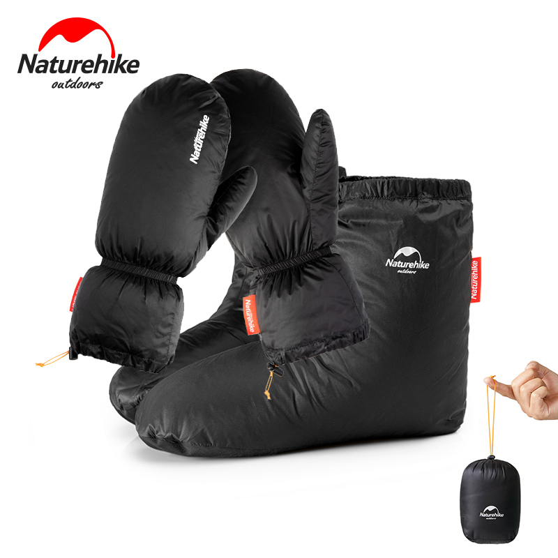 Naturehike Goose Down Gloves Socks Shoes Cover Heating Camping Windproof Winter Warmth Skiing Hands Feet Cover Men Women