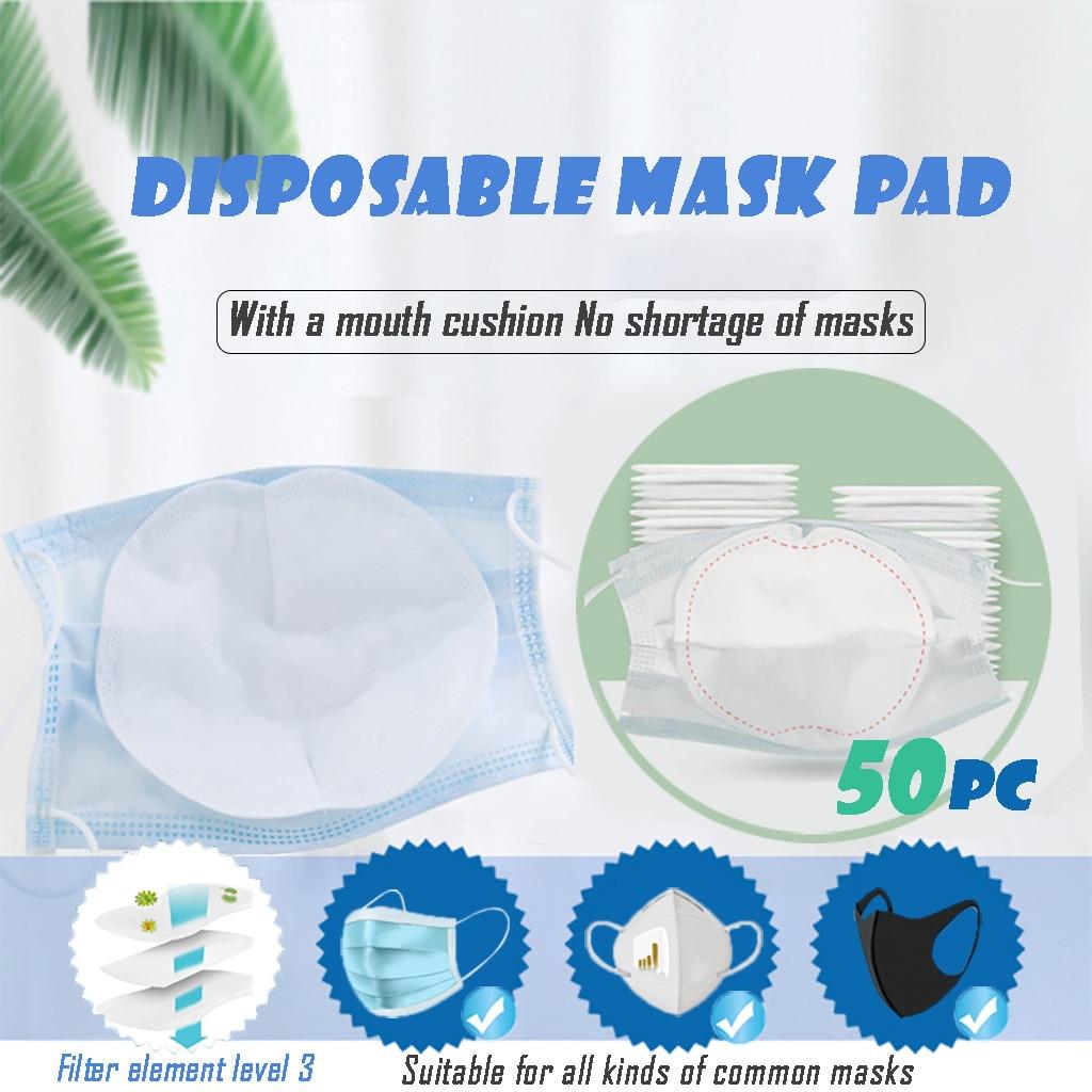 Mask Mascara Mask Gasket Face Mask Filter Activated Carbon Breathing Filters 50pc Masks