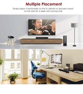 Image 4 - Subwoofer sound bar verdrahtete drahtlose Bluetooth home surround stange subwoofer dual lautsprecher sound bar schwere metall klassische zylinder