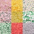 Персик маргаритки овощи формы полимерные глиняные ломтики красочные брызгает для Слим наполнения ручной работы акриловый эпоксидный смол...
