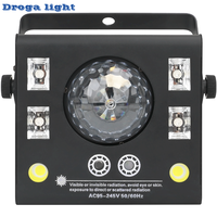 LED Laser Strobe UV 4in1 DMX512 Stage Effect Lights Good For DJ Disco Birthday Parties Wedding/Christmas Clubs And Bar