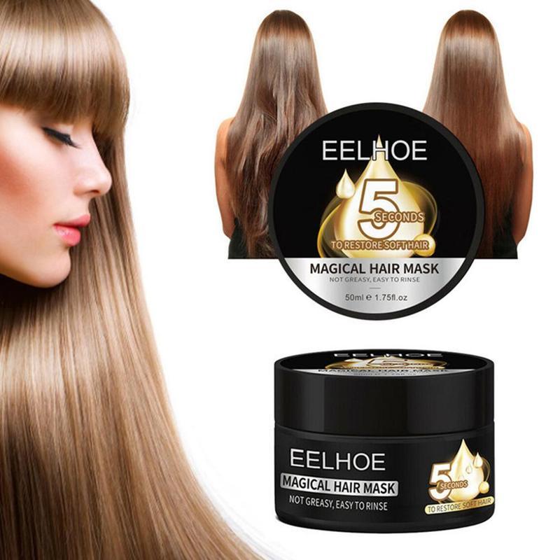 50ml EELHOE 5 Seconds Magical Hair Mask Moisturizing Nourishing Hair Treatment Repairs Damage Hair Restore Soft Hair Care Mask