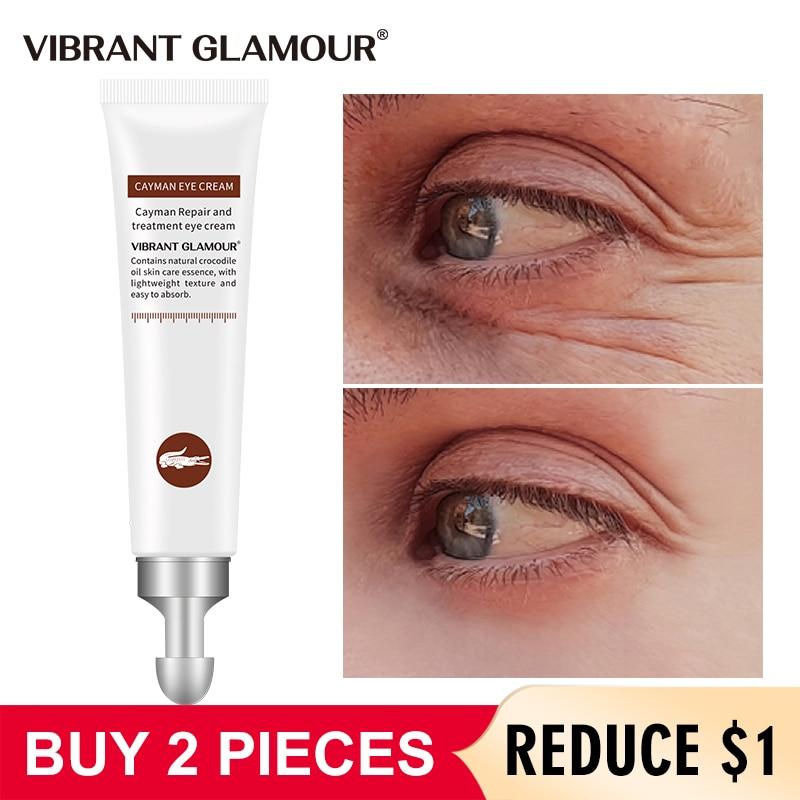 Vibrante glamour crocodilo anti-envelhecimento creme para os olhos remover círculos escuros inchaço clarear linhas finas clareamento hidratante cuidados com os olhos