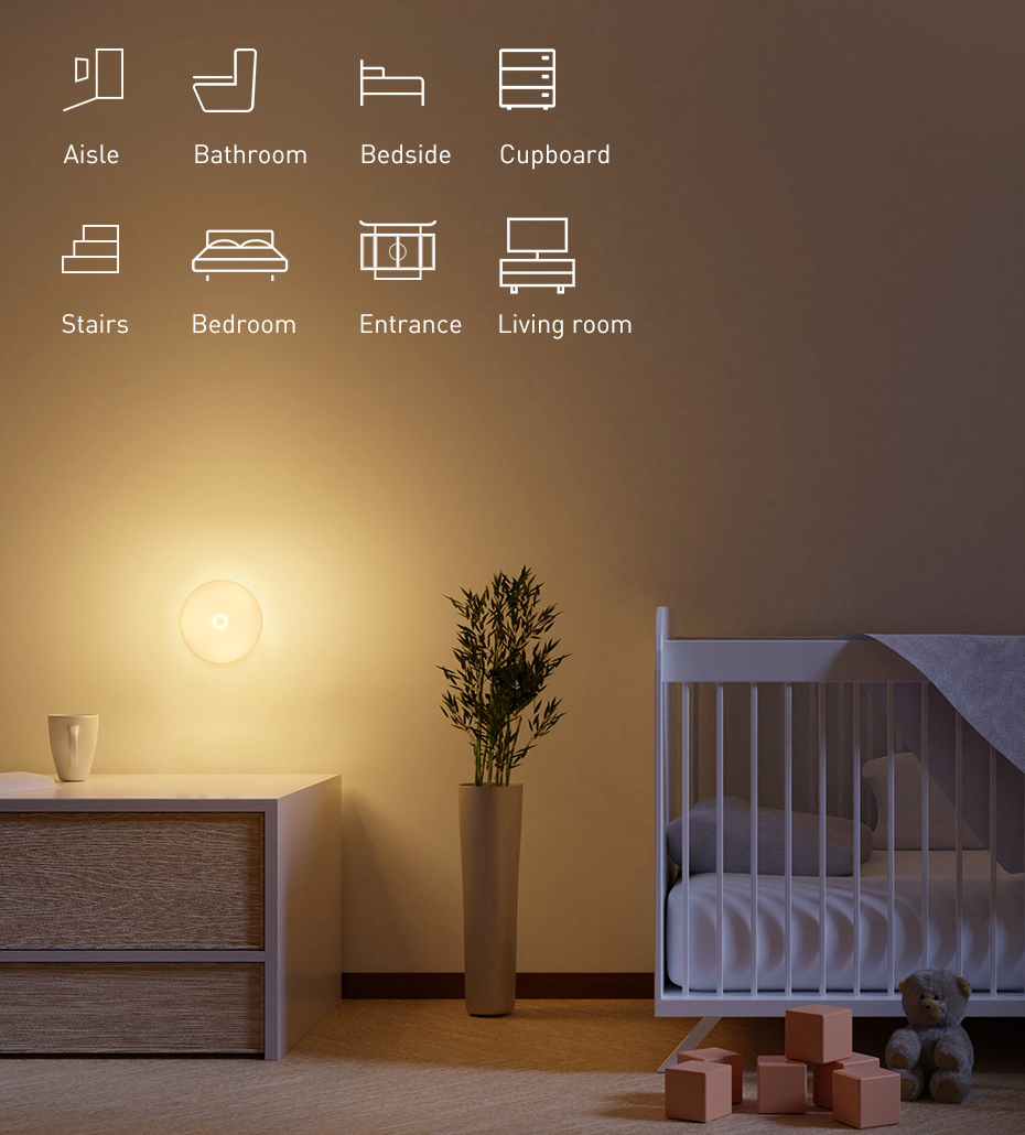 led wall night light