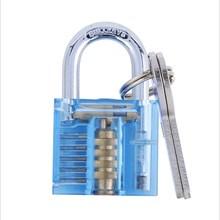 Transparent Padlock Bag Lock Crystal Process Colorful Locks