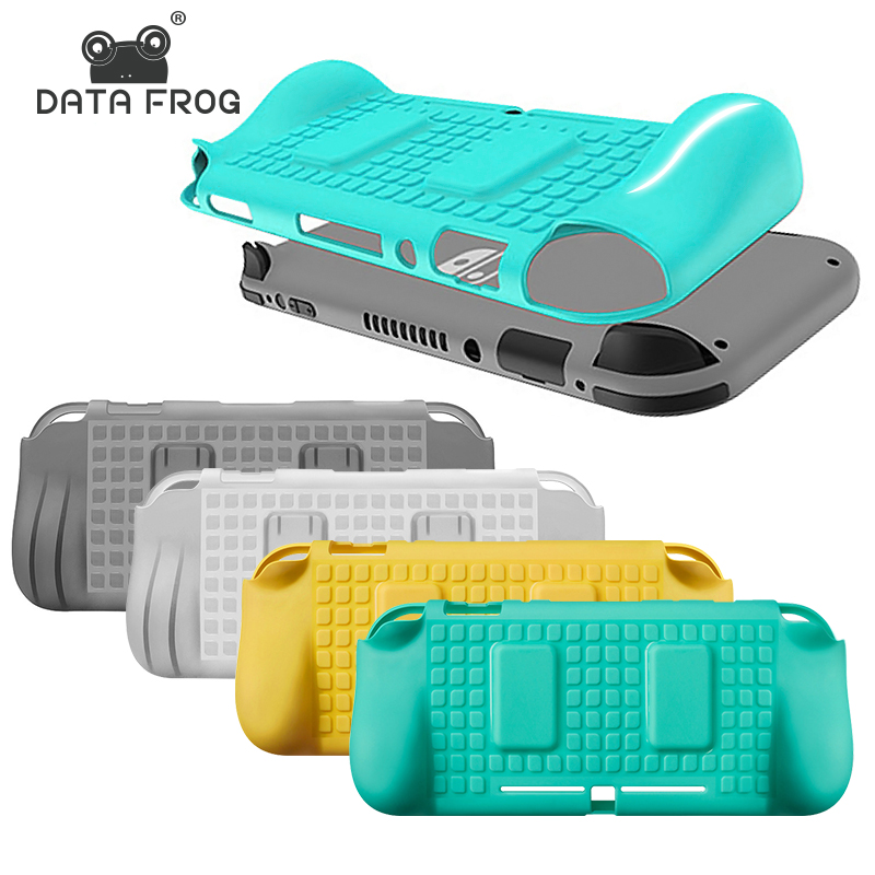 Data Frog Silicone Case For Nintendo Switch Lite With 2 Cards Slots Protective Cover Case For Nintendo Switch Lite Game Console