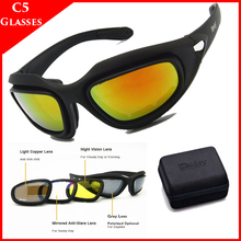 Tactical C5 Polarized Sport Glasses Airsoft Army Shooting Glasses Military Goggl