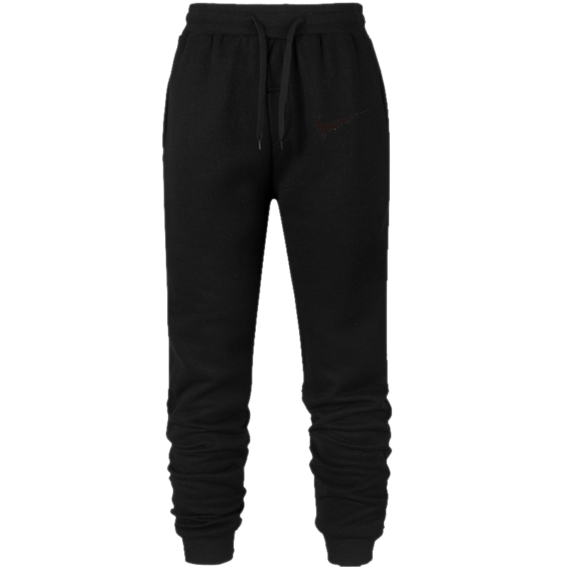 Cute women's hoodie autumn/winter 19 gold size black, white and grey loose wool thick knit sport thickening thermal pants 15